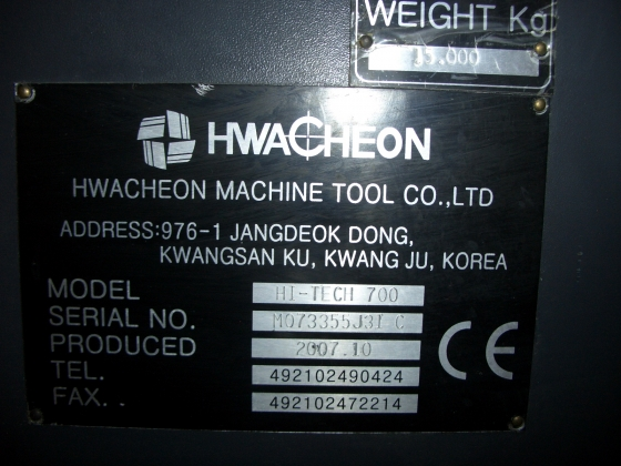 Hwacheon Hi-Tech 700